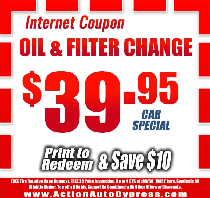 oil change cypress